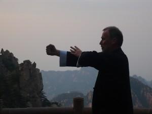 Abenddämmerung in den chinesischen Bergen